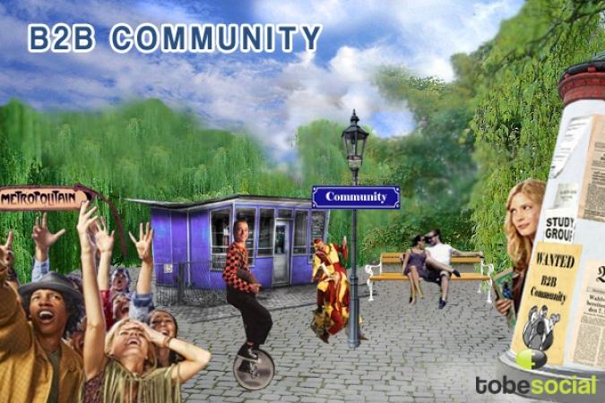 Grafik B2B Community Management