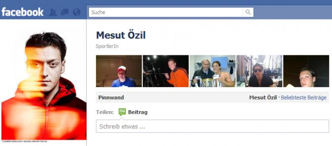 Grafik Facebook Autritt Mesut Oezil