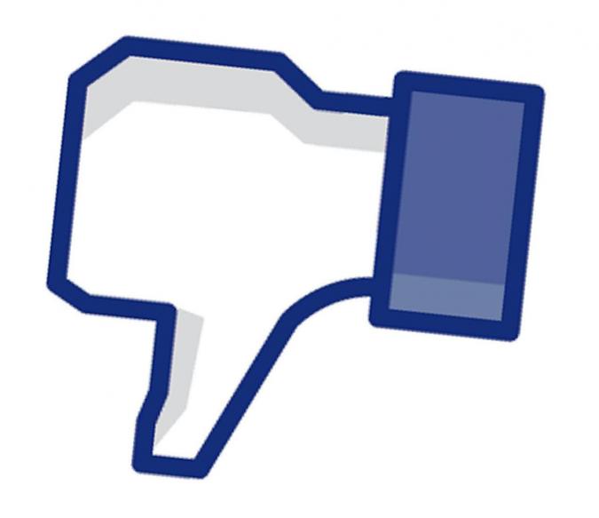 Grafik Daumen runter Facebook