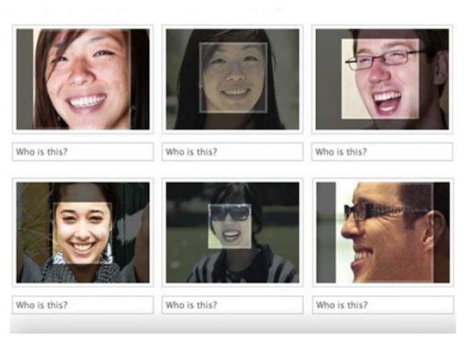 Grafik Facebook Gesichtserkennung