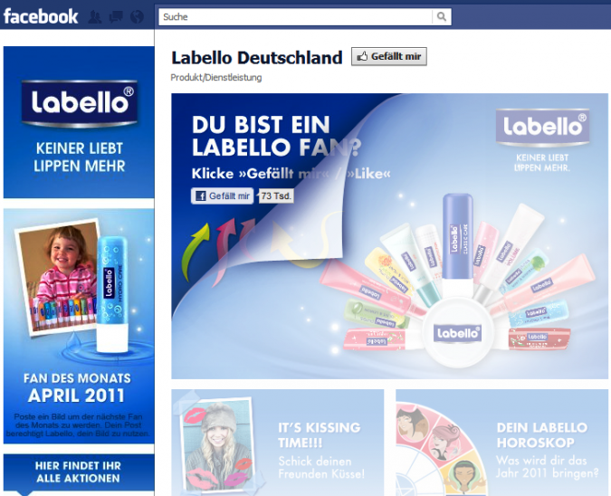 Grafik Labello Deutschland Facebook