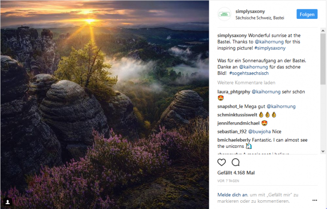 Tourismusmarketing via Social Media: Tipps und Best Cases für das Social Media Marketing von Reiseunternehmen Content Marketing Toursismus Instagram