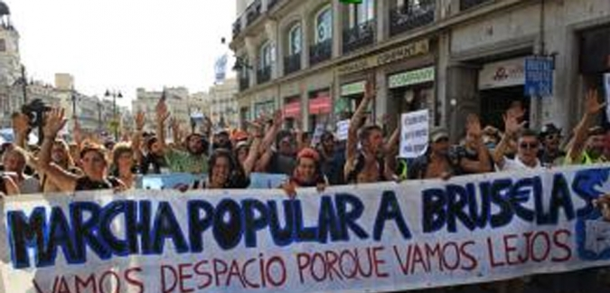 marcha popular a bruselas