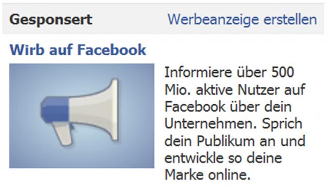 Grafik Facebook Werbeanzeige