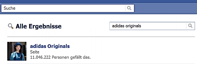 Grafik adidas Originals Facebook fanpage