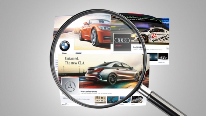 Grafik Automobilhersteller im Social Media Vergleich