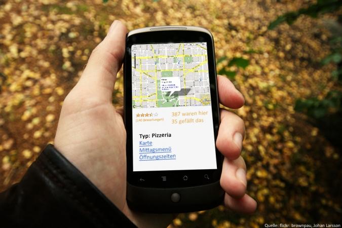 Grafik Bewertungsportale ueber Mobile App
