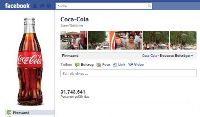Grafik Coca Cola Facebook