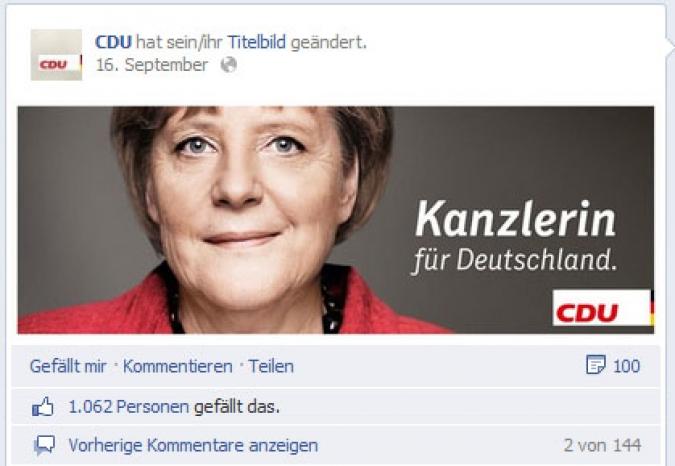 Page Analyse Parteien Wahlkampf 2013 Anzahl Fanwachstum cdu
