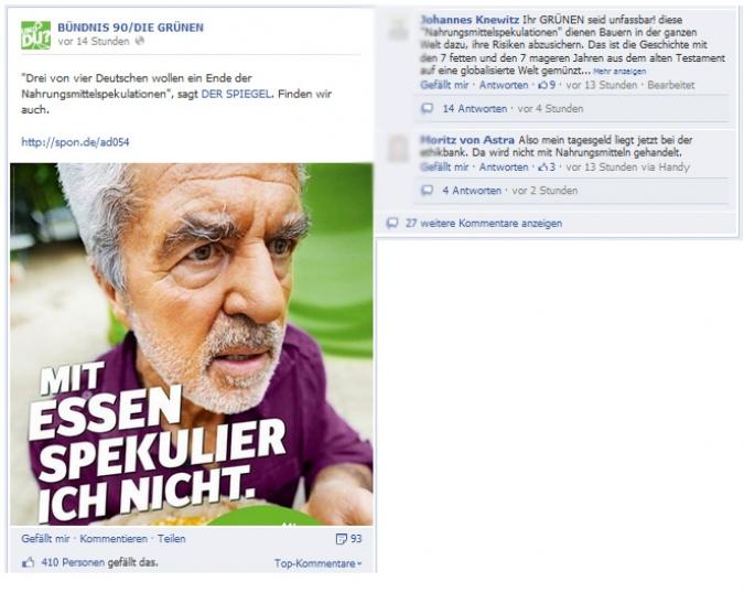 Facebook Page Analyse Parteien Wahlkampf 2013 Anzahl Fanwachstum die gruenen
