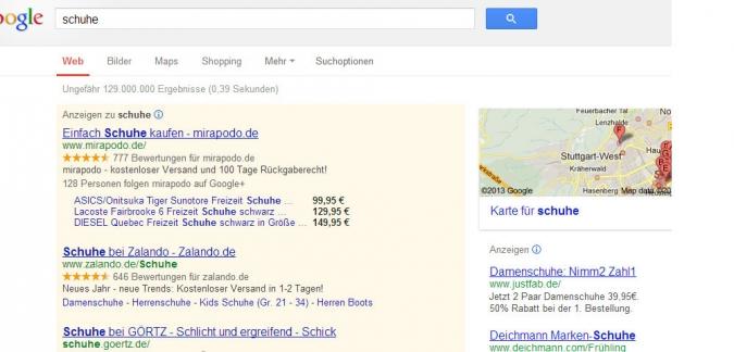 Grafik Google Adwords Anzeigen schalten