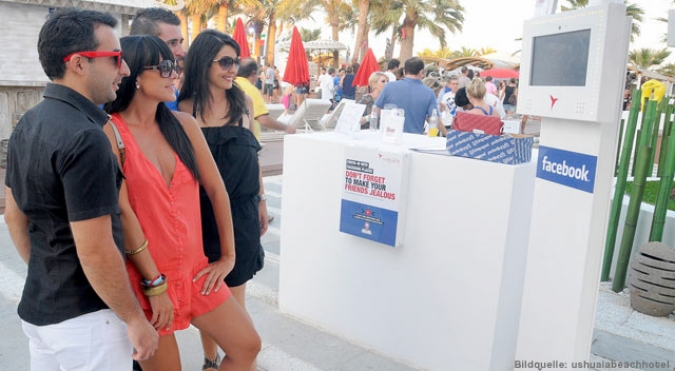 Grafik Facebookintegration auf Ibiza