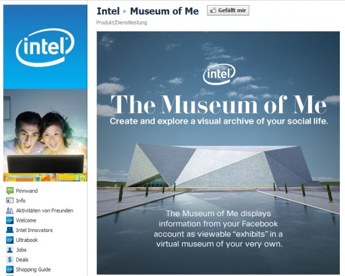 Intel Museum of Me als Beispiel einer Social Media Marketing Kampagne