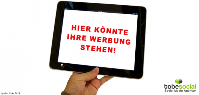 Grafik Mobile Ads Tablet und Smartphone Advertising