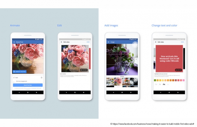 Facebook Marketing Updates 2019: Neue kreative Facebook Tools wie Video Creation Kit