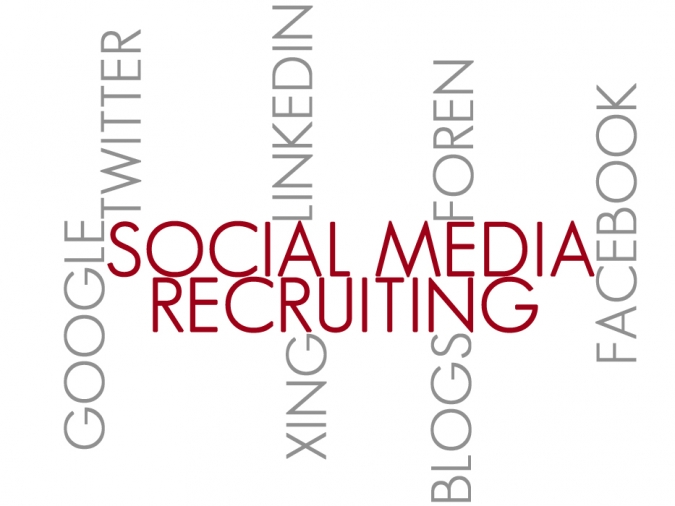 Grafik Social Media Recruiting