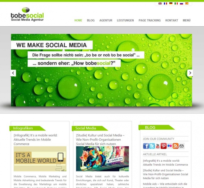 social media agentur tobesocial stuttgart social media marketing