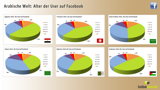 Grafik Laendervergleich arabische Revolution Social Media