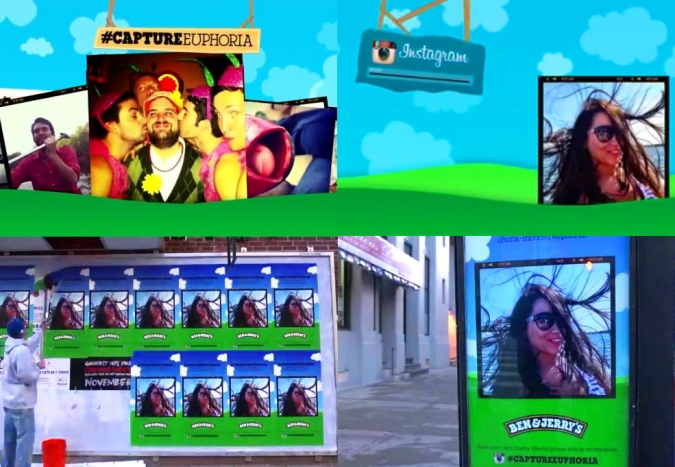 Grafik Social Media Kampagne Ben and Jerrys Capture Euphoria