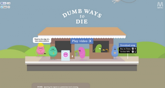 Grafik Social Media Kampagne Dumb Ways to Die
