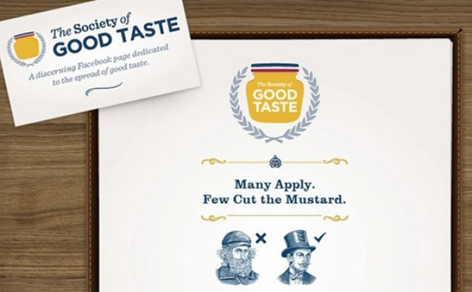 Grafik Social Media Kampagne Society of good Taste