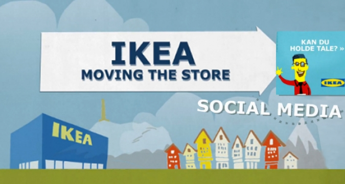 Grafik Social Media Kampagne Ikea Move the Store