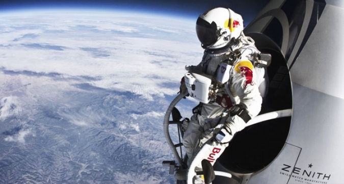 Grafik Social Media Kampagne Red Bull Stratos