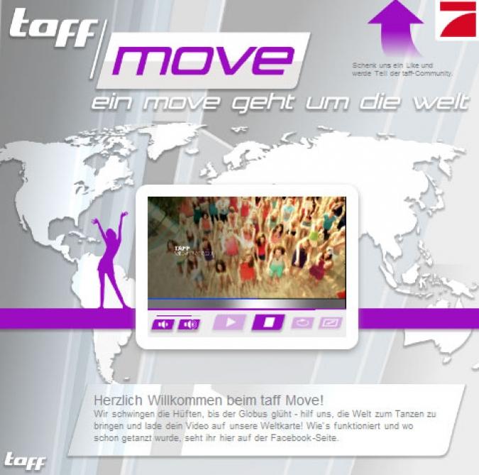 Grafik Social Media Kampagne Taff Move ProSieben