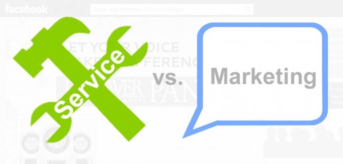 Grafik Social Media Service gegen Social Media Marketing