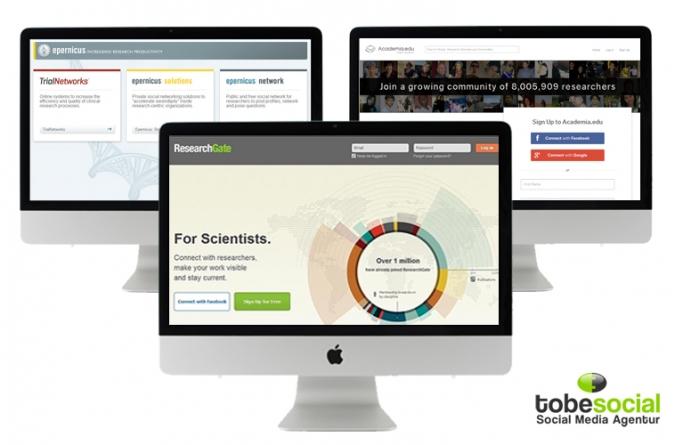 Social Media Plattformen in Wissenschaft wie Reserchgate, Epernicus und Academia