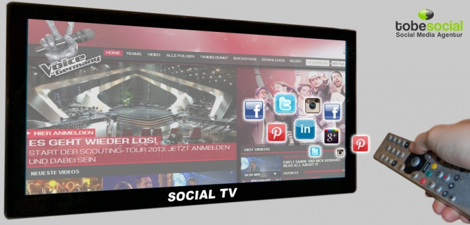 Grafik Social TV the Voice of Germany