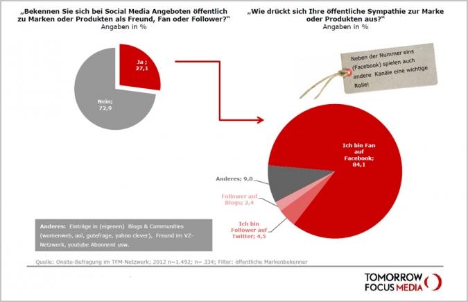 Studie Social Media Nutzung Facebook Fan Fanpage Twitter Follower