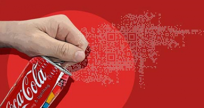 Grafik QR Code Coca Cola