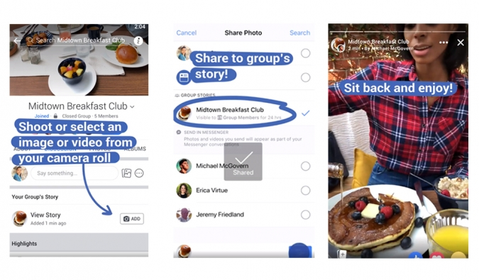 Wie funktioniert die Facebook Group Story? Facebook Group Stories für Unternehmen Marketing Tipps Story Funktionen