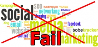 Grafik Fehler im Social Media Marketing