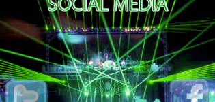 Grafik Social Media Buehne