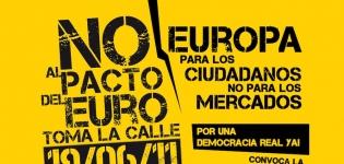 no al pacto del euro toma la calle