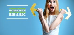 Content Marketing Unterschied via Social Media bei B2C- und B2B-Unternehmen [Studie]