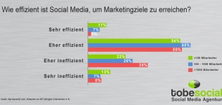 Social Media Strategie - Grafik Effizienz von Social Media Marketing