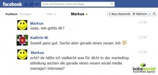 Grafik Facebook Gespraech Kontakt Jobsuche