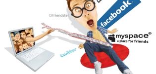 Grafik Facebook MySpace Twitter