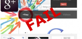 Grafik Google + Fail