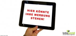 Grafik Mobile Ads Tablet und Smartphone Advertising