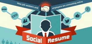 Grafik Social Recruiting Online Lebenslauf