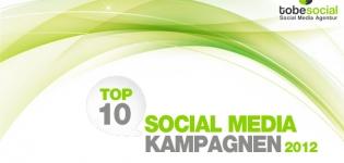 Grafik tobesocial Top 10 Social Media Kampagnen