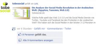 Grafik neuer Facebook Like Button für Blogs und Webseiten
