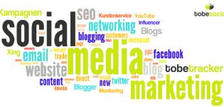 Grafik Social Media Tag Cloud