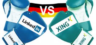 Grafik Xing LinkedIn