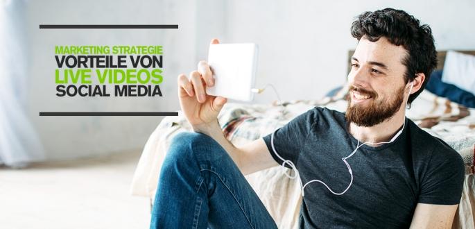 Live Streaming Marketing Strategie und Vorteile von Live Videos auf Social Media Plattformen Infografik