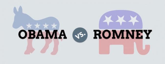 Grafik Obama vs. Romney